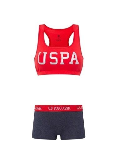 U.S. Polo Assn. U.S. Polo Assn. Kadın Kırmızı Büstiyer Şort Takım Kırmızı